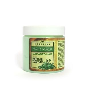 Hair Mask for Damaged Hair with Nettle, Walnut and Burdock